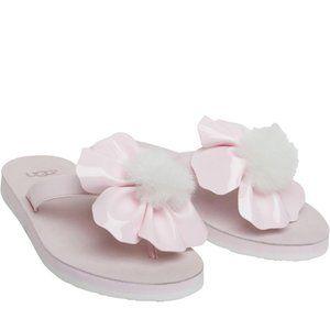 Girl's Ugg Poppy Pink Thongs Sandals